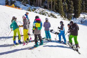 Skiing fun with the whole class