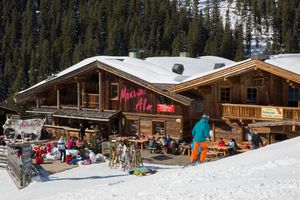 Montana Alm right on the ski slopes